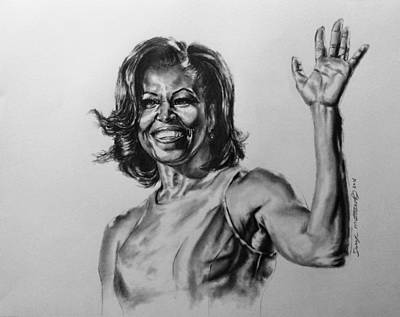 Painting -  Michelle Obama  by Darryl Matthews