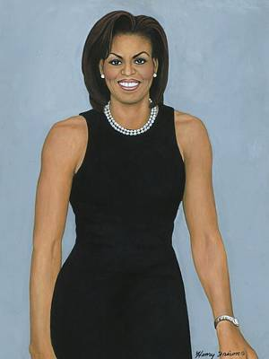 Black History Painting - Michelle Obama by Henry Frison
