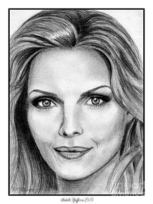 Drawing - Michelle Pfeiffer In 2010 by J McCombie
