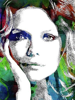 Michelle Pfeiffer Art Print by Mihaela Pater
