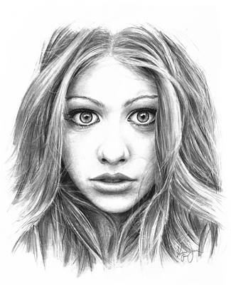Catherine White Drawing - Michelle Trachtenberg by Ryan Jones