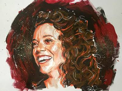 Painting - Michelle Wolf by Joel Tesch