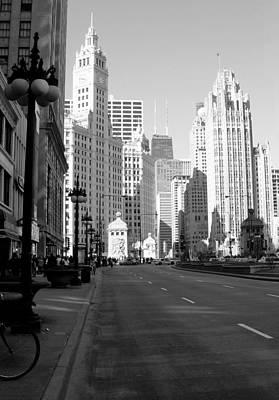 Photograph - Michigan Ave Tall B-w by Anita Burgermeister