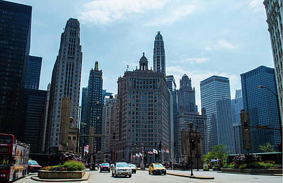 Photograph - Michigan Avenue Bridge And Skyline Chicago by Deborah Smolinske