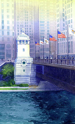 Michigan Avenue Bridge Art Print