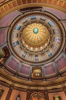 Photograph - Michigan Capitol Dome  by John McGraw