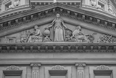 Photograph - Michigan Capitol Sculpture  by John McGraw