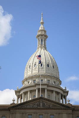 Photograph - Michigan Capitol Building Dome by Frank Romeo