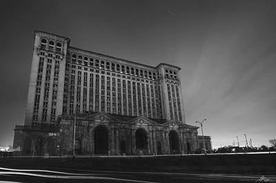 Abandoned Digital Art - Michigan Central Station At Midnight by Gordon Dean II