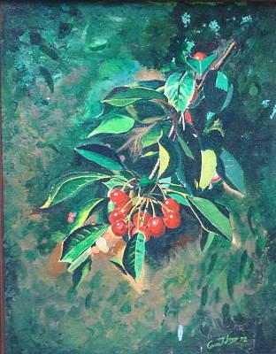 Michigan Cherries Art Print