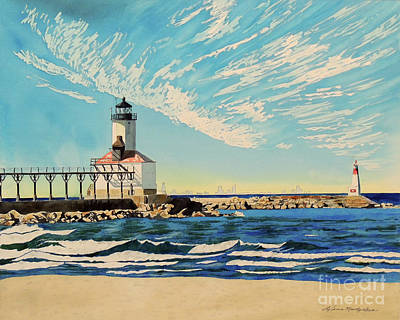 Painting - Michigan City Chicago Dreams by LeAnne Sowa