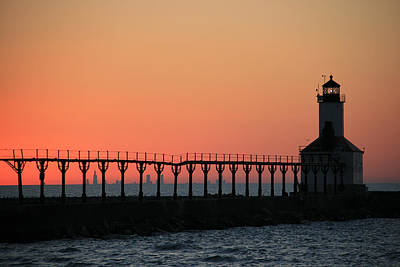 Photograph - Michigan City East Pier Lighthouse by George Jones