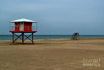 Photograph - Michigan City Lifeguard Station by Amy Lucid