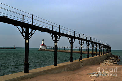 Photograph - Michigan City Lighthouse by Amy Lucid
