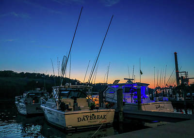 Photograph - Michigan Fishing Boats At Dusk by Dan Sproul