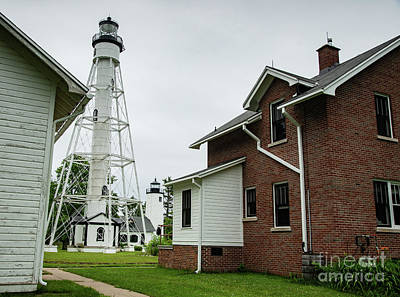 Photograph - Michigan Island Lightstation Sailing Apostle Islands National Lakeshore Bayfield Wisconsin II by Wayne Moran