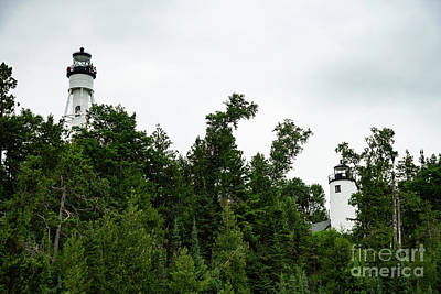 Photograph - Michigan Island Lightstation Sailing Apostle Islands National Lakeshore Bayfield Wisconsin IIi by Wayne Moran