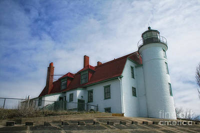 Photograph - Michigan Lighthouse by Gina Cormier