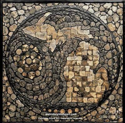 Lake Michigan Mixed Media - Michigan Petoskey Stone by Randall Libby