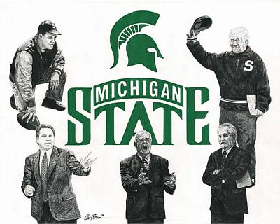 Mixed Media - Michigan State Coaching Legends by Chris Brown