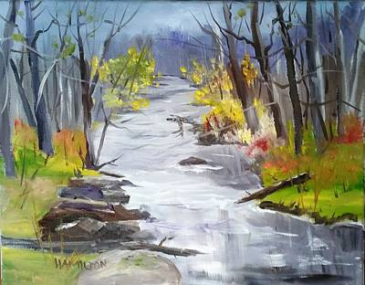 Painting - Michigan Stream by Larry Hamilton
