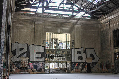 Detroit Abandoned Buildings Photograph - Michigan Train Depot Detroit  by John McGraw
