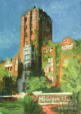 Painting - Michigan Union Ann Arbor by Yoshiko Mishina