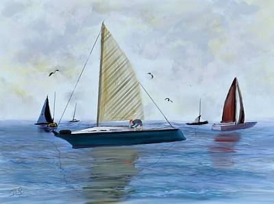 Painting - Michigan Weekend by Dick Bourgault