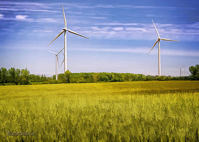 Photograph - Michigan Wind Farm by LeeAnn McLaneGoetz McLaneGoetzStudioLLCcom