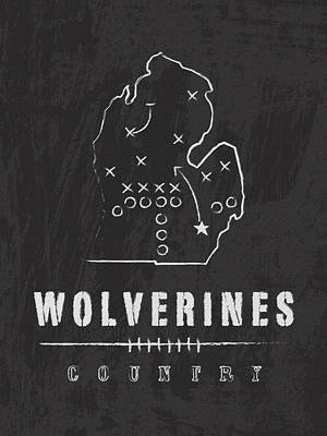 Wolverine Digital Art - Michigan Wolverines Country by Damon Gray