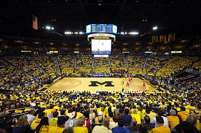 Michigan Wolverines Crisler Center Art Print by Replay Photos