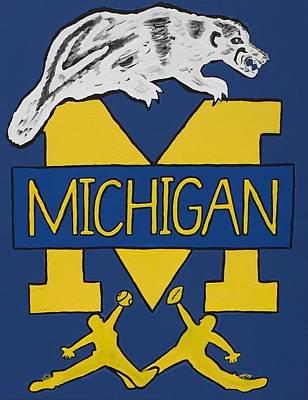 Michigan Wolverines Art Print