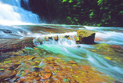 Digital Art - Michigan's Agate Falls by Dennis Cox Photo Explorer