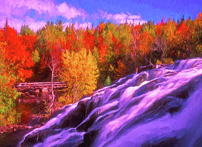 Digital Art - Michigan's Bond Falls, Michigan by Dennis Cox Photo Explorer