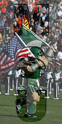Photograph - Michiganstate Sparty by John McGraw