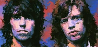 Mick Jagger And Keith Richards Painting - Mick And Keith by Christian Podgorski