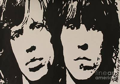 Mick Jagger And Keith Richards Painting - Mick And Keith by John Halliday