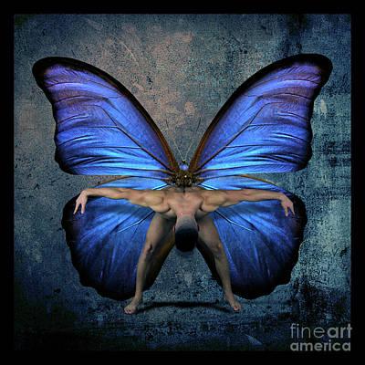 Emotive Digital Art - Mick Blue  by Mark Ashkenazi