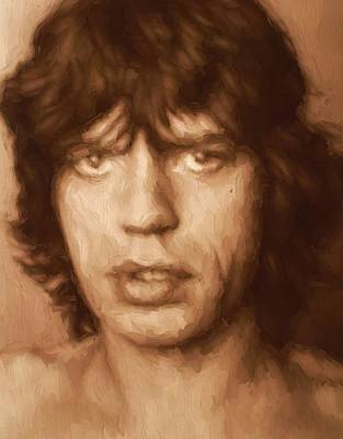 Music Paintings - Mick by Dan Sproul