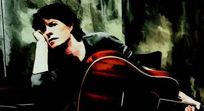 Mick Jagger And Keith Richards Mixed Media - Mick Jagger 03g by Brian Reaves