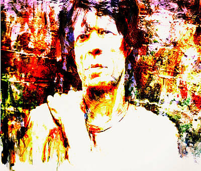 Mick Jagger And Keith Richards Painting - Mick Jagger 3c by Brian Reaves