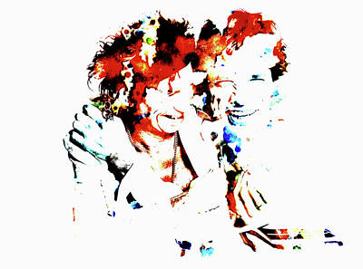 Mick Jagger And Keith Richards 4c Art Print