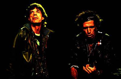 Mick Jagger And Keith Richards Mixed Media - Mick Jagger And Keith Richards 4f by Brian Reaves