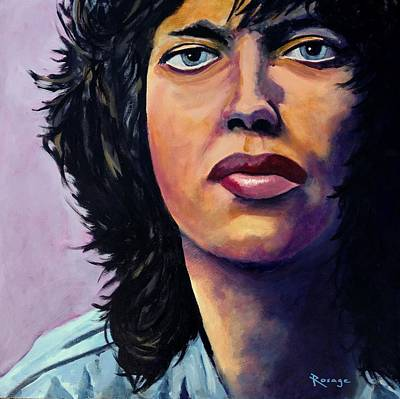 Painting - Mick Jagger by Bernie Rosage Jr