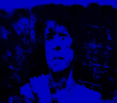 Mick Jagger And Keith Richards Painting - Mick Jagger Blue by Brian Reaves