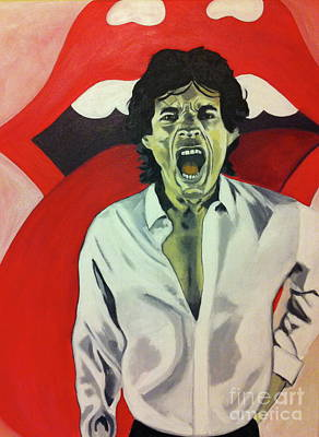Painting - Mick Jagger by Carla Bank