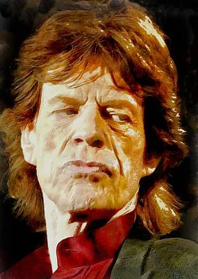 Digital Art - Mick Jagger by Charmaine Zoe