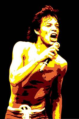 Rolling Stone Magazine Digital Art - Mick Jagger by DB Artist