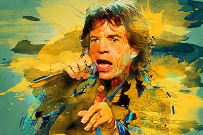Mick Jagger Poster Digital Art - Mick Jagger  by Elena Kosvincheva