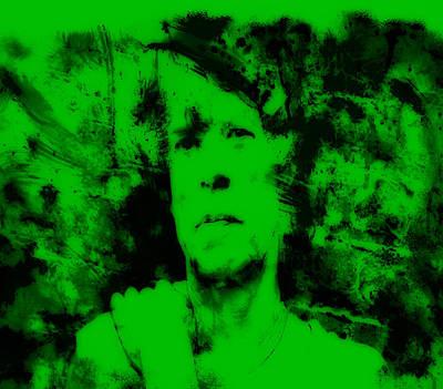 Mick Jagger And Keith Richards Painting - Mick Jagger Green by Brian Reaves